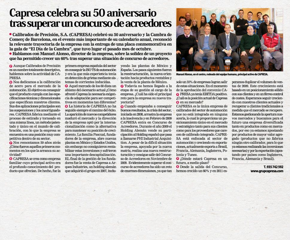 Phi Industrial - Capresa 50 aniversario