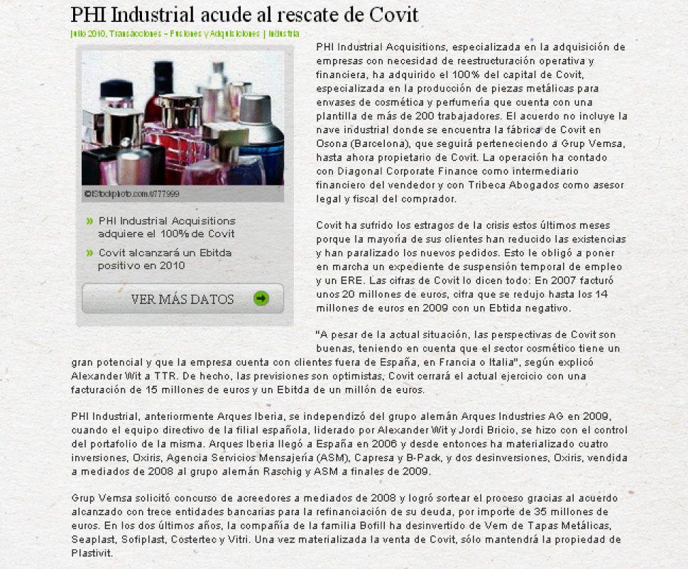 Phi Industrial - Covit